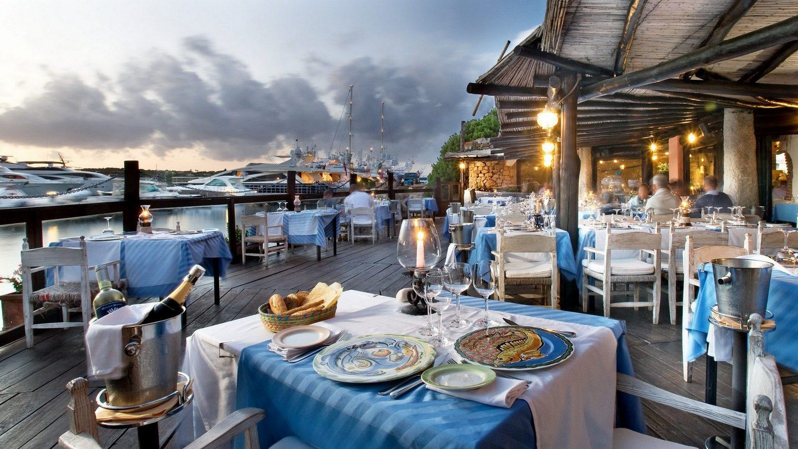 Outside Terrace Il Pescatore Restaurant Porto Cervo